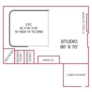 Studio 760 floorplan